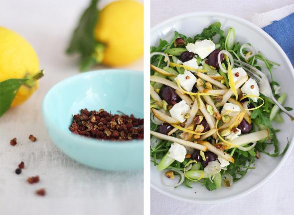 winter greek salad with marinated feta | egg & dart